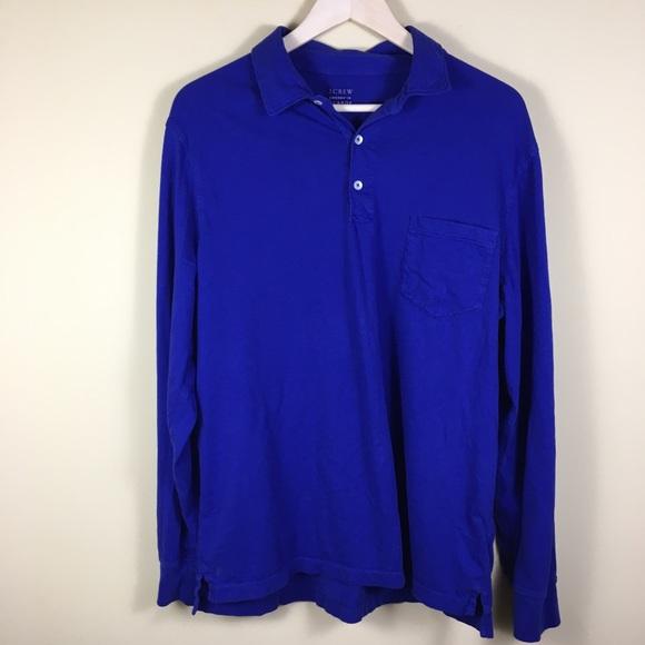 3ea625488cf1 J. Crew Shirts | J Crew Brokenin Long Sleeve Pocket Polo Shirt Xl ...